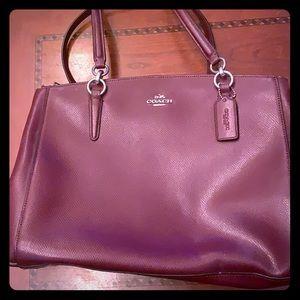 Oxblood Coach purse. Lightly used!